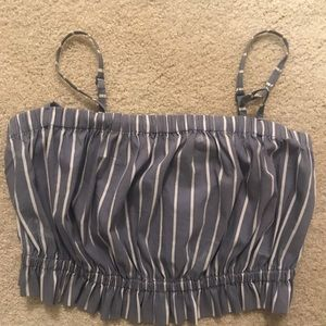 Urban Outfitters Small Striped Crop Top
